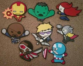 Marvel's Avengers - Kawaii Style - Die Cut Set - Fighting