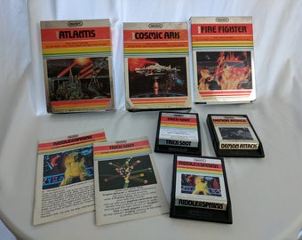 Imagic Game Pack - Trick Shot, Atlantis, Cosmic Arc, Fire Fighter, Demon Attack, Riddle of the Sphinx