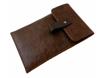 Rustic Brown Leather iPad Air Case - Can be Personalised