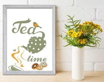 Kitchen Wall Art Typographic Print, Kitchen Wall Decor, Kitchen decoration, Kitchen Poster Print, Wall Art Kitchen