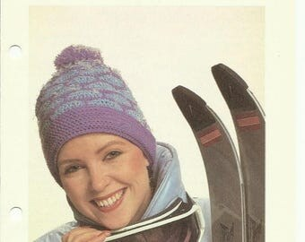 Retrocon Sale - Ski hat crochet pattern digital download