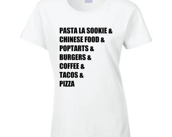 Ladies - Gilmore Girls Food Tee T Shirt