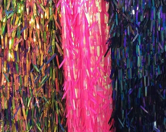 High Quality!!1Yard Iridescent Sequin Fabric,Geometry Fabric,Stretch Mermaid Sequin,Multicolor Kimono Sequin Fabric,Wholesale Fabric