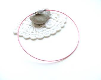 X 1 pink cable Bracelet pale clasp screws