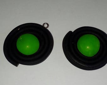 X 1 roll of black jelly beans licorice green polymer clay