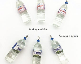 Charm bottle resin water mineral
