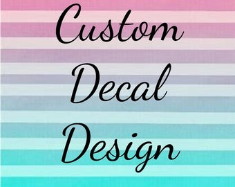 Custom Vinyl Decal, Create your own decal, Personalized vinyl decal, Vinyl cutouts, Yeti, Free Shipping, Personalized, Made to order decal