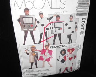Mens McCalls 6097 Womens Size Adult Costumes Knight Card Die Gift Video Game Dice