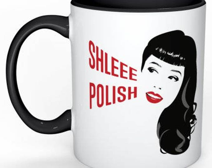 Shleee Polish logo coffee mug