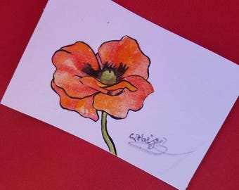 Poppy Dreams - Floral Watercolor Painting