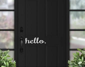 Hello Door Decal Door Decals for Home Door Decal Door Sign Door & Hello door sign   Etsy pezcame.com