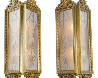Two Panel Wall Sconce Pair (ANT-909)