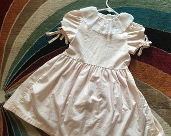 1980s Pink Pastel Dress (Girls 6) USA