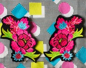 Custom made - Beautiful Floral Duo Patch