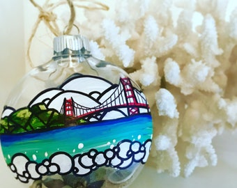 San Francisco Golden Gate Bridge shatterproof ornament