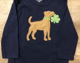 St Patrick's Day Dog Tee