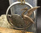 Heron  Steampunk jewelry- artistic Steampunk Necklace - The Victorian Magpie