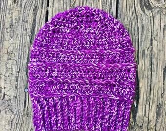 Beanie in Stonewash Purple // Willow Beanie // Ready To Ship