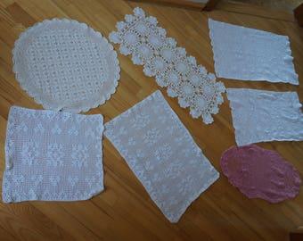 grand crochet napperon etsy. Black Bedroom Furniture Sets. Home Design Ideas