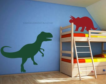 Dinosaur Wall Decal Etsy - 3d dinosaur wall decals