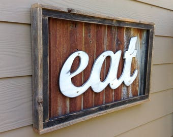 EAT Sign, Rustic Eat Sign, Kitchen Decor, Rustic Home Decor, Rustic Wedding Decor, Rustic Wall Decor, Eat, Wood Signs, Wooden Signs,