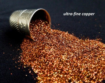 glitter - copper ultra-fine polyester