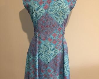 1960's Style PAISLEY DESIGN DRESS
