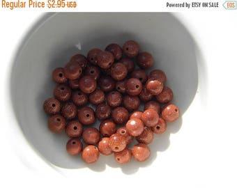 HALF PRICE 20 6mm Goldstone Beads