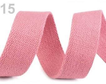 Cotton strap 30 pink 15 mm