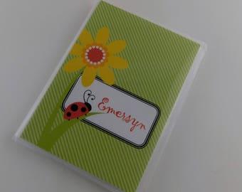 Lady Bug Photo Album Girl Grandmas Brag Book Red Green Ladybug Flower Baby shower Gift 4x6 or 5x7 picture