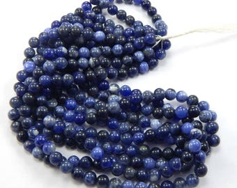 Excellent !! Sale On 80 Carat Approx 1 Strand Natural Sodalite Round Smooth 6 mm Round Shape Beads 15 Inches 1 Strand