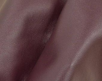 "Divine Dark Red Wine ""Signature"" Leather Cow Hide 12"" x 12"" Pre-cut 2-3 oz flat grain DE-61632 (Sec. 8,Shelf 4,D)"