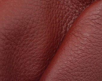 "Riptide Red Leather New Zealand Deer Hide 4"" x 6"" Pre-cut 4 ounces -10 DE-66107 (Sec. 3,Shelf 5,A,Box 3)"