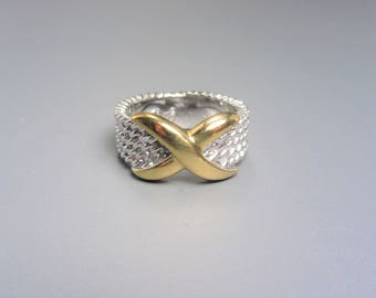 Vintage Premier Designs Two Tone Ring Size 6