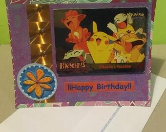 Pokémon ~ Handmade Pokemon Group Birthday Card ~ Gotta Catch Em All! Pokemon