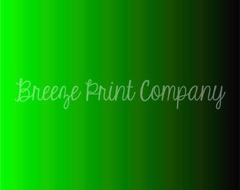 Lime green and black Ombre print craft vinyl sheet - HTV or Adhesive Vinyl -  gradient print pattern vinyl  HTV3131