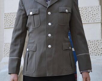 Old East German Military Uniform Jacket