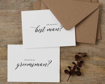 7 x Will You Be My Best Man, Will You be My Groomsman, Best Man Card, Groomsman Card, Wedding Party, Will You Be My Cards, Usher Card, K2