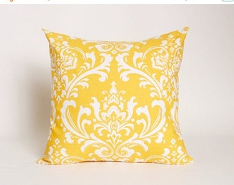 Summer Sale Corn Yellow Pillow Cover Premier Prints Ozborne Pattern Designed to fit 16, 18, 20 or 22 Inch Standard Inserts