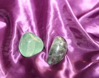 Green & Rainbow Tumbled Fluorite