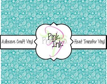 Beautiful Paisley Craft Vinyl and Heat Transfer Vinyl Pattern 439