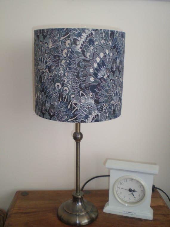 Handmade Lightshade - Liberty Fabric - Eben Peacock Design - Navy and Grey