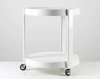 70s bar cart, 70s tea trolley, Space Age design cart, 70s tea wagon, plastic serving cart, 70s side table