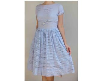 Cornflower lilac dress 1950s prom dress vintage dress 50s dress prom dress pretty pastel dress size 10 dress lavender prom dress 1950s dress