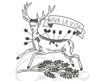 MACHINE EMBROIDERY DESIGN - Wounded Deer