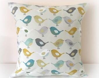 "Sweet Birds Cushion Cover Pillow 16"""