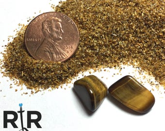 Crushed Tigers Eye - Small Sand - 100% Natural Without Fillers