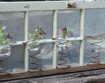 Vintage Mattress Springs Upcycled Bed Springs Rustic Candle Holders Flower Vase Design Wedding Decor Outdoor Gardening 1 unit of 4 Springs