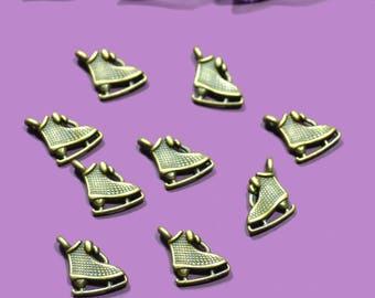 bronze 20 retro ice skates