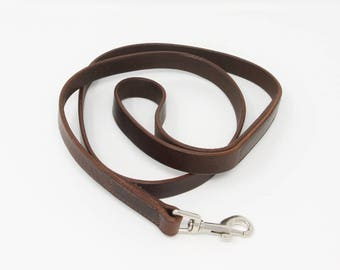 Leather dog lead - hand-stitched with attention to detail to ensure no rough edges